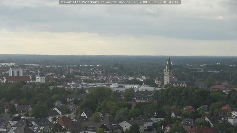 Paderborn - Blick von der Uni -> Innenstadt, Dom